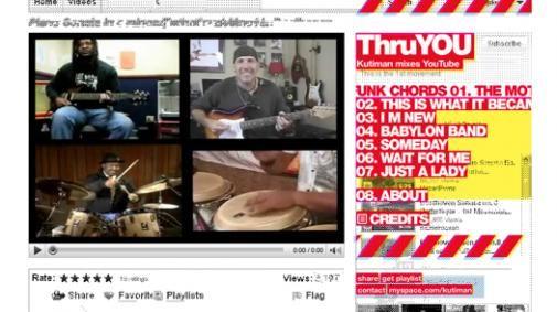 Thru-You: willekeurige muziek van YouTube in de remix