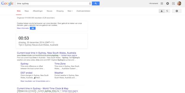 tijd google