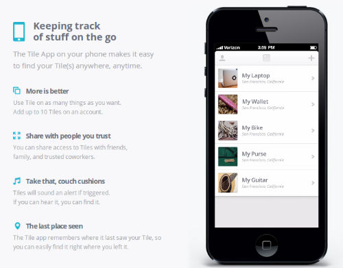 tiles app screen