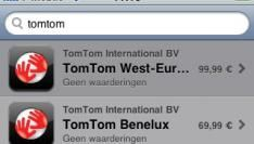 TomTom op de iPhone