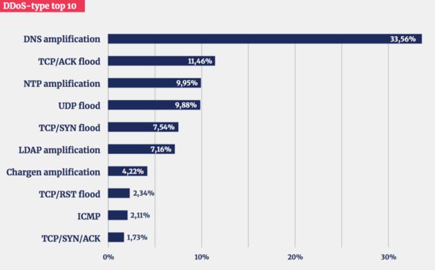 top 10 DDoS-typen