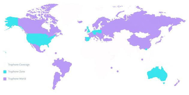 Truphone: Bellen, sms'en en data binnen 1 bundel in 66 landen wereldwijd