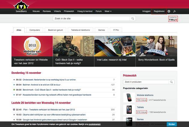Tweakers voor 3e keer verkozen tot 'Website van het Jaar'
