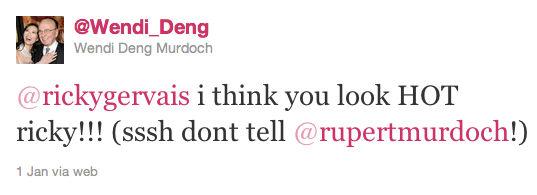 Twitter account vrouw van Murdoch blijkt nep