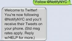 Twitter Fast Follow. Tweets per SMS