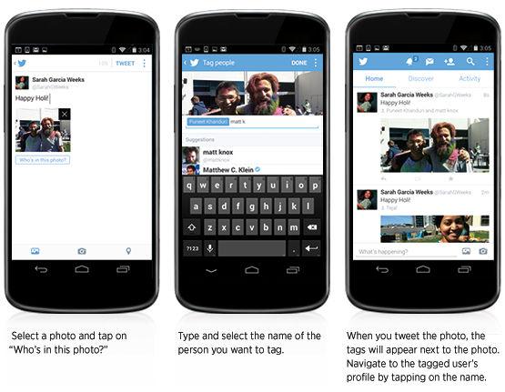 Twitter laat gebruikers nu foto's taggen