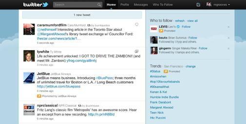 Twitter plaatst Promoted Tweets bovenaan timeline