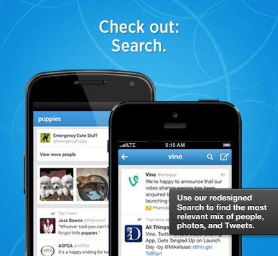 Twitter rolt update uit voor iOS en Android app