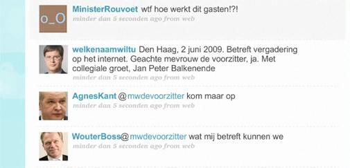 Twitteren doen ze ook in Den Haag