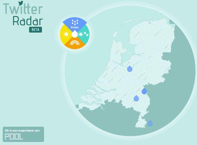Twitterradar: Het weer volgens Twitterend Nederland
