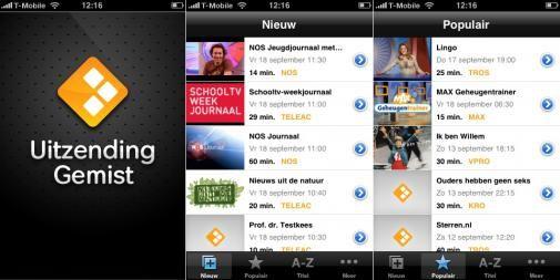 Uitzending Gemist App een succes