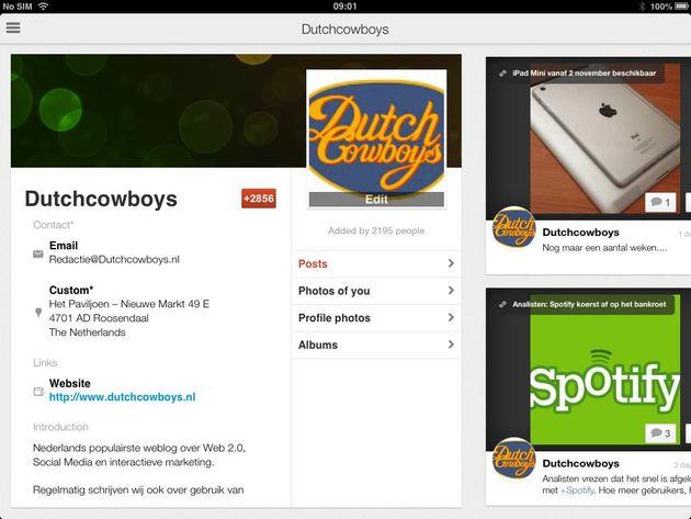 Update mobiele Google+ app voegt Pagina's toe