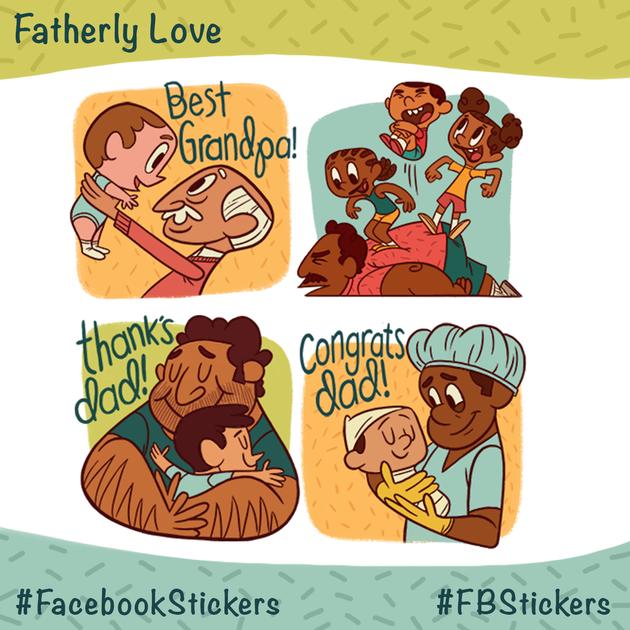 vaderdag-stickers
