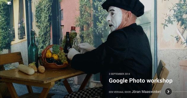 Verhalen maken met Google Photo