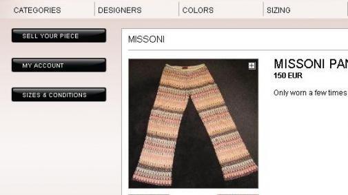 Verkoop oude mode voor een trendy doel