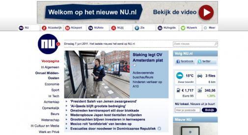 Vernieuwde website Nu.nl