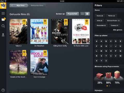 Video-on-demand dienst van Pathé Thuis nu ook op de iPad
