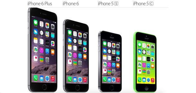 vier iphones volledig