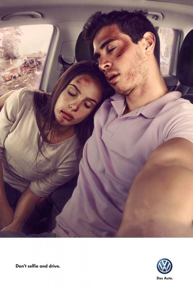 Volkswagen don't selfie and drive 3