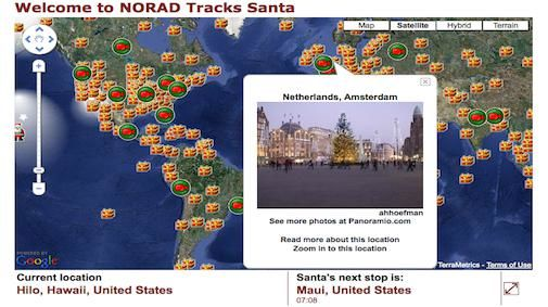 """Waar is """"Santa"""" the Google way"""