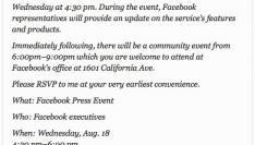 Wat gaat Facebook morgen aankondigen?