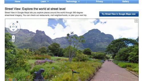 Website Google Streetview vernieuwd