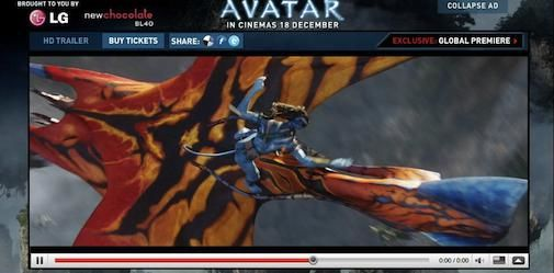 Wereldpremiere Avatar live via YouTube