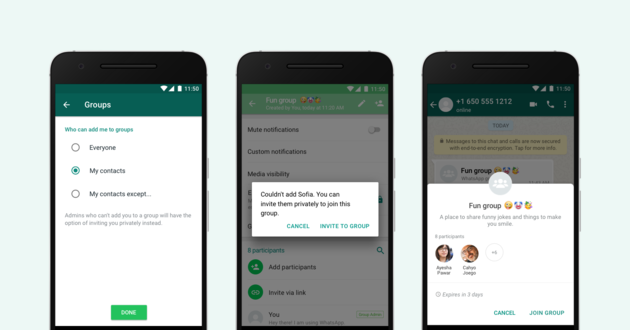 Groepsgesprekken weigeren op WhatsApp vanaf nu mogelijk