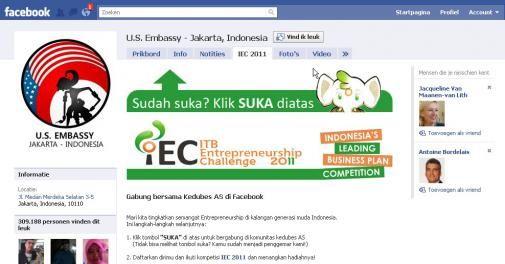 """Wikileaks: """"100.000 dollar voor Facebook pagina voor bezoek Obama aan Indonesië"""""""