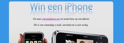 Win een iPhone SPAM
