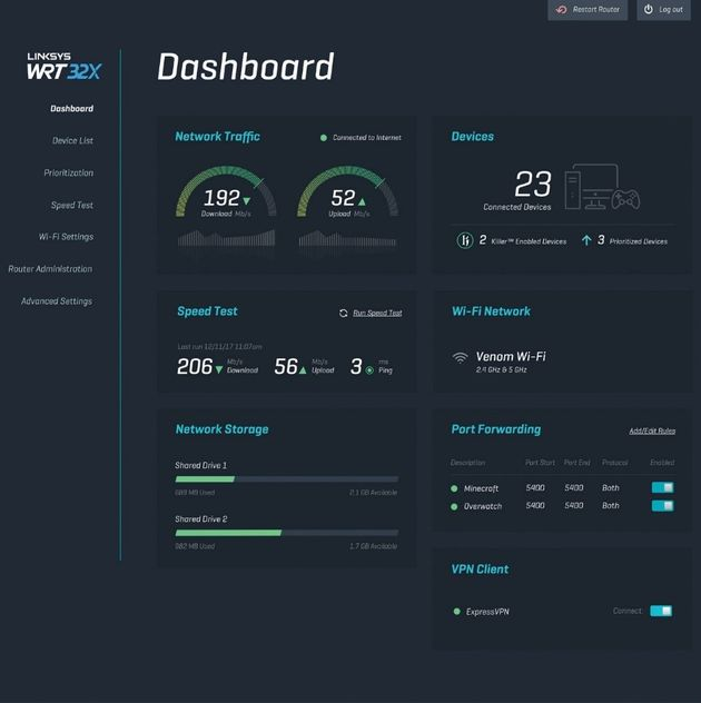 WRT32X software dash low res