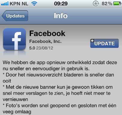 """Zuckerberg: """"Dit is een snellere iOS Facebook-app"""""""