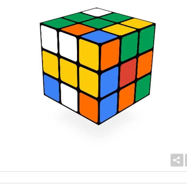 40 jaar Rubiks cube: Een werkende versie op de homepage van Google