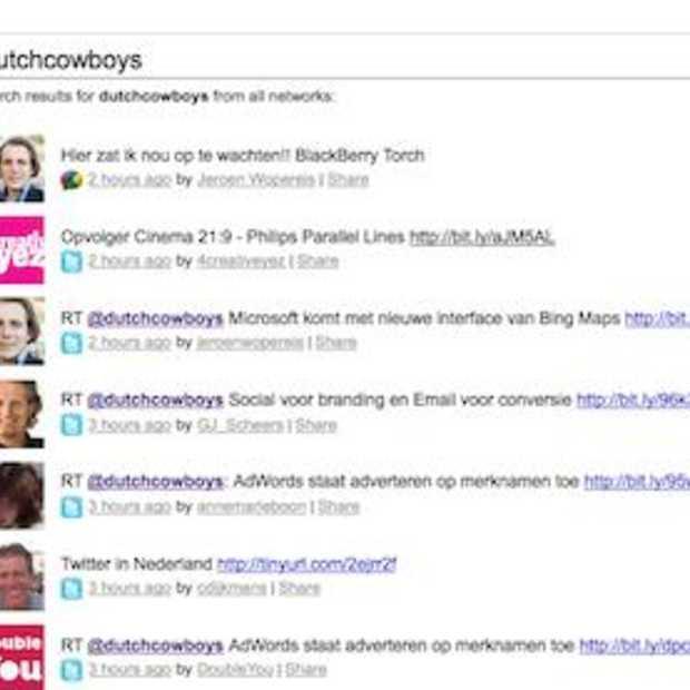 48ers.com Social Media Search voor Twitter, Facebook en Google Buzz