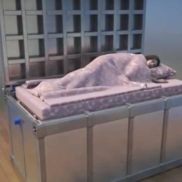 Dit angstaanjagende bed beschermt je tegen aardbevingen