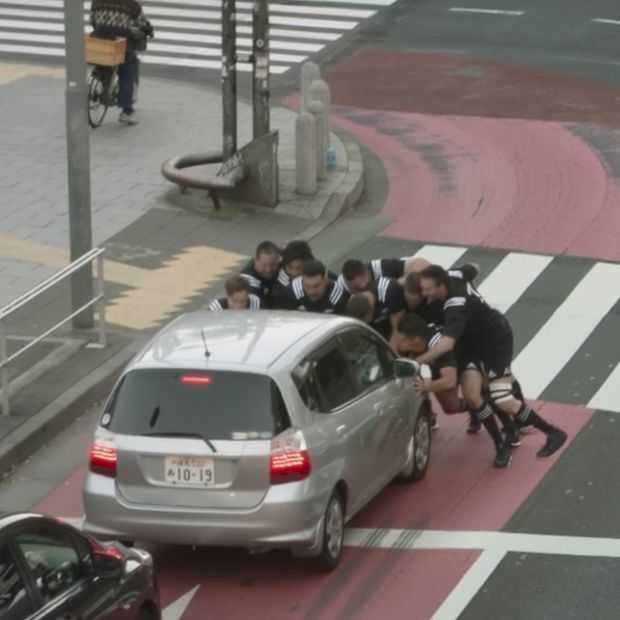 Only in Japan: toffe commercial met de All Blacks