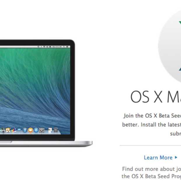 Alle mac-gebruikers krijgen toegang tot beta-versies Apple OS X