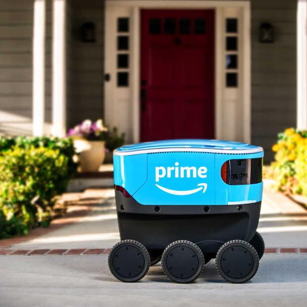De bezorgrobot van Amazon levert nu pakketjes aan de voordeur af
