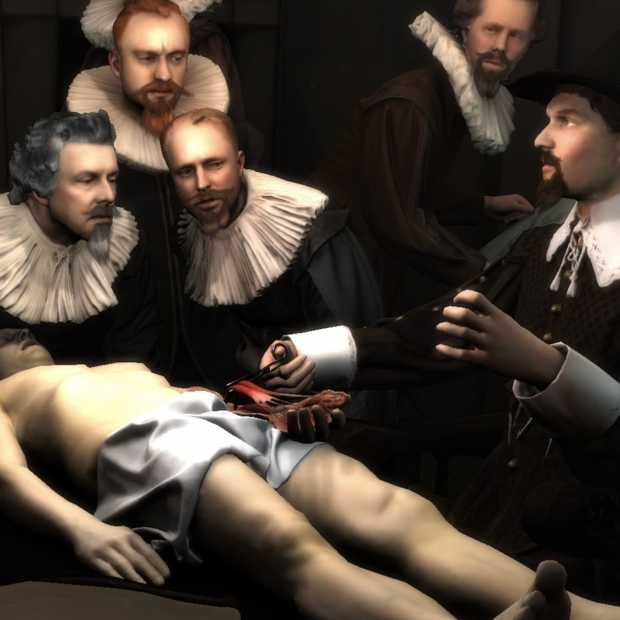De anatomische les van Dr. Nicolaes Tulp in Augmented Reality