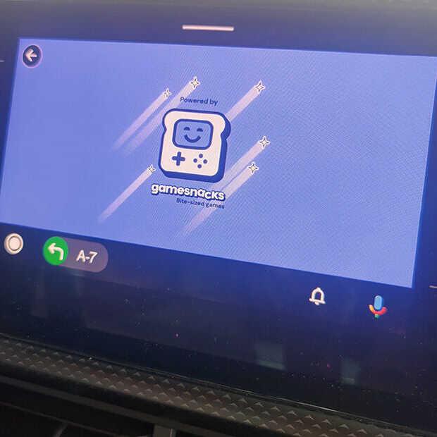 Android Auto laat je nu ook gamen in de auto