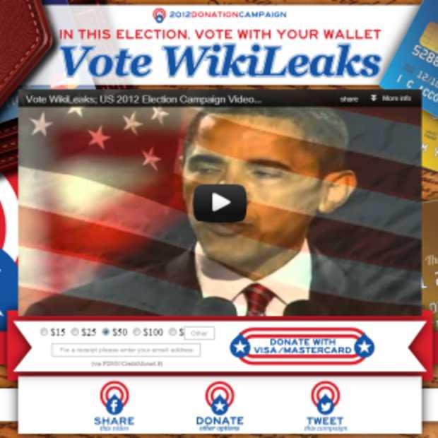 Anonymous baalt flink van actie Wikileaks