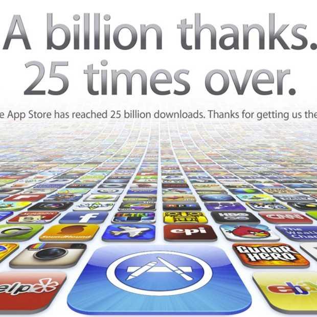 Apple App Store overschrijdt 25 miljard downloads