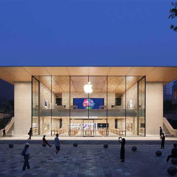 Apple opent nieuwe megastore in China ondanks forse kritiek Amerika