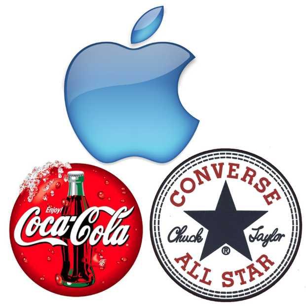 Apple, Converse en Coca-Cola coolste merken