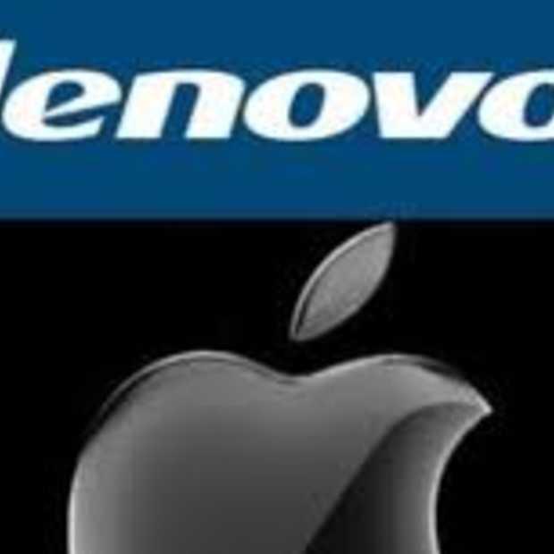 Apple in China groter dan thuisspeler Lenovo
