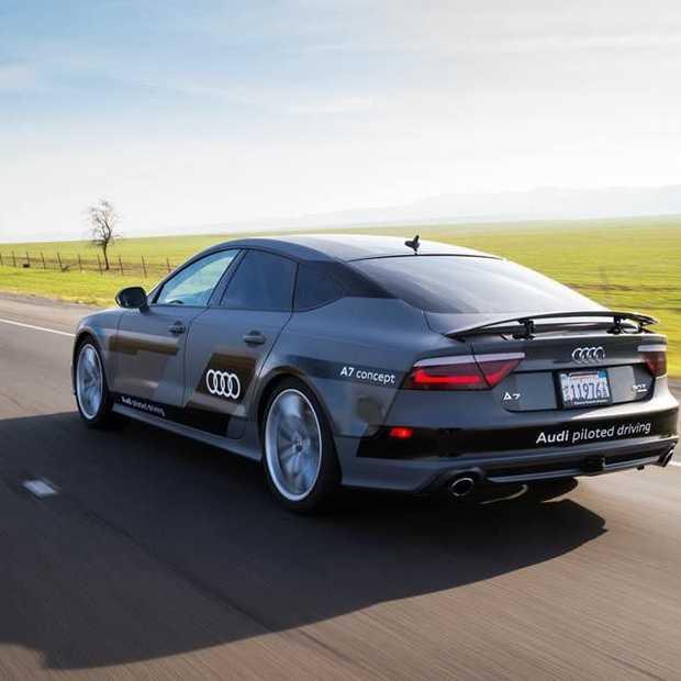 Autonoom rijdende Audi A7 rijdt van Silicon Valley naar Las Vegas
