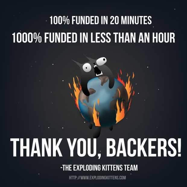 Exploding Kittens populairste Kickstarter campagne ooit