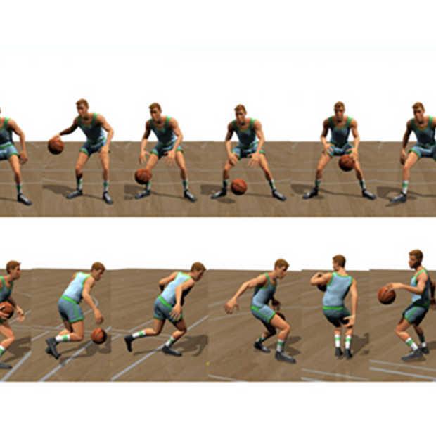 Onderzoekers leren computer dribbelen met een basketbal