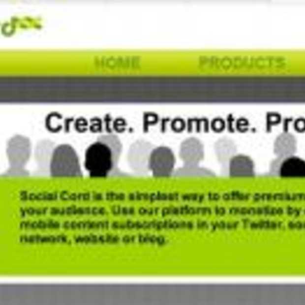Betalen voor Twitter met Social Cord
