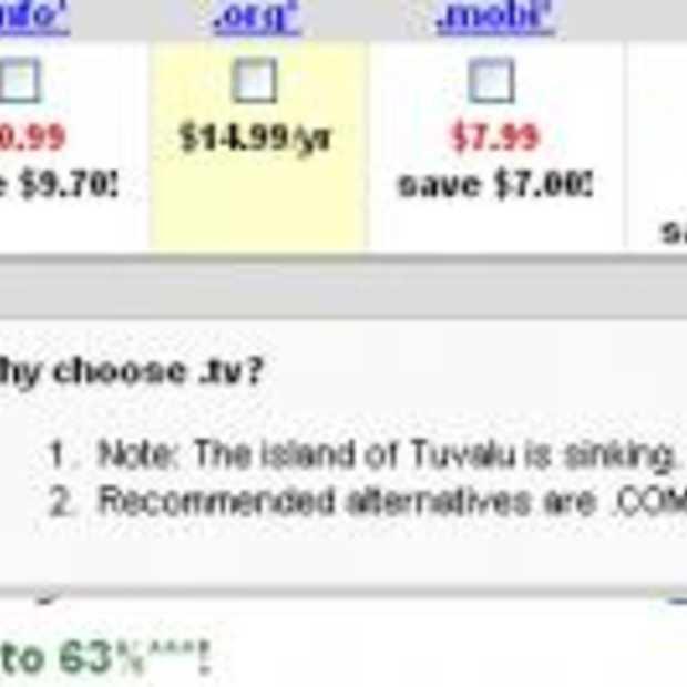 Beter geen .tv domein volgens Godaddy